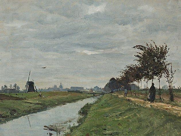 Otto Modersohn (1865-1943), Blick auf Münster, Öl, 1887
