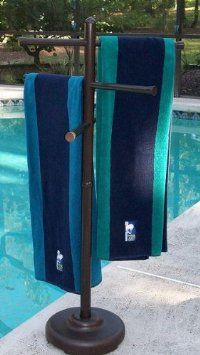 Amazon.com: Outdoor Spa and Pool Towel Rack: Patio, Lawn & Garden