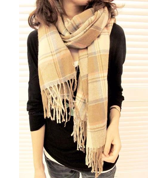 Fashion Sweet Style Warming Woolen Yarn Women's Scarf (BEIGE), Scarves - fashiondresswholesale.com