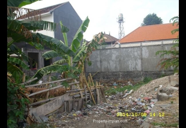 Land 100 meters to bali Kuta residence and 200 meters to MC Donald Sunset Road, Hotel & Villa area at Dewisri Kuta @ 1.625.000.000/are/100m2. must sell ASAP. Contact to +6281246064121 (WA).