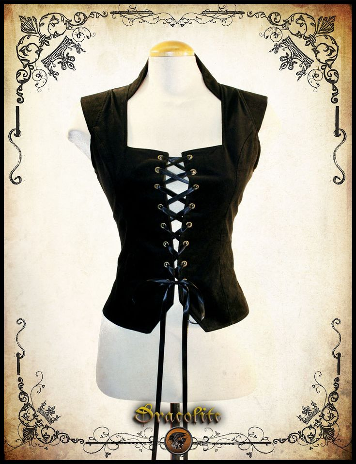 Bustier Baronnesse Steampunk clothing blouse - Steam punk shirt for LARP, victorian costume and cosplay by Dracolite on Etsy