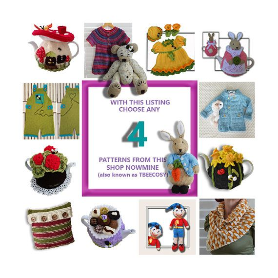 Sample images, there are tons to choose from  & get 4 T Bee Cosy Patterns  of your Desire WOW  -  https://www.etsy.com/listing/529093415/any-4-t-bee-cosy-patterns-of-your-desire