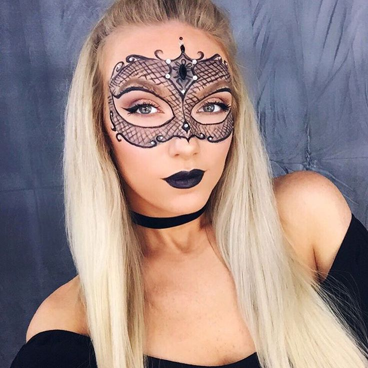 It's all in the eyes! A new Halloween tutorial for this Masquerade Mask makeup look is now live. This look is so versatile and woks for so many costumes! Click through to watch the YouTube video on how to recreate this look with Maybelline eyeliner and black lipstick.  #ad