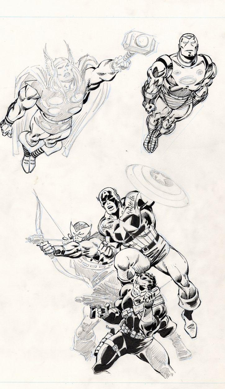 Thor, Iron Man, Captain America, Hawkeye, Nick Fury by John Buscema