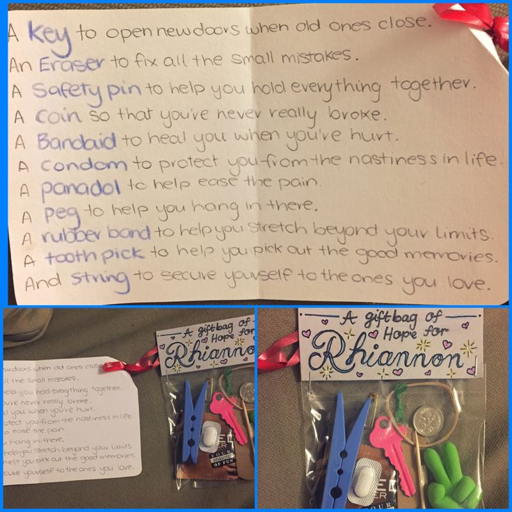 Anti-depression kit, gift bag of hope, knapsack of hope