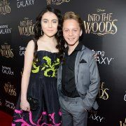Daniel Huttlestone and Lilla Crawford at event of Into the Woods (2014)