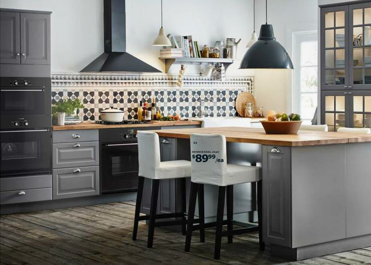 Ikea Wood Kitchen Countertops best 25+ grey ikea kitchen ideas only on pinterest | ikea kitchen