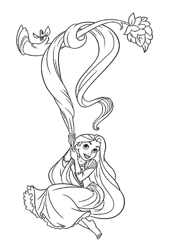 Coloring Pages For Rapunzel : 64 best disney coloring pages images on pinterest