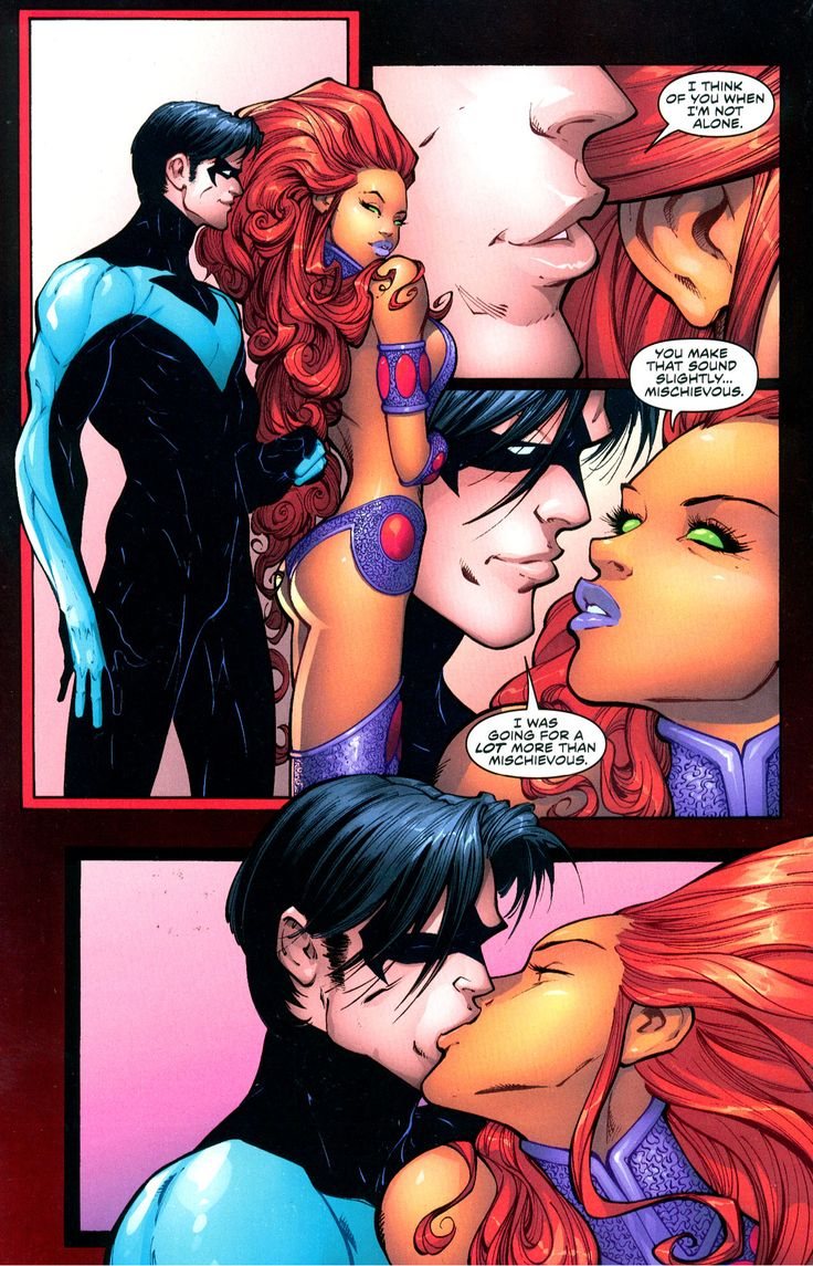 nightwing and starfire influenced by lust 2