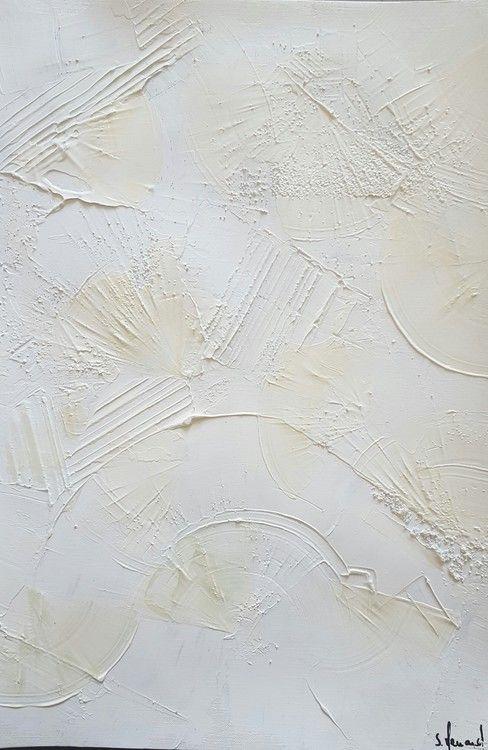 Monochrome Blanc 7 - Peinture, 29,7x42 cm ©2016 par Stéphanie MENARD - … | Peinture monochrome ...