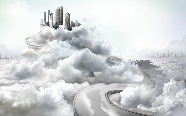 город, в облаках | Облака, Город, Картинки