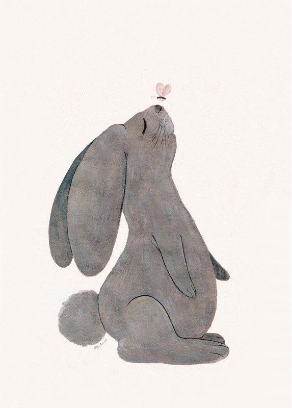 ATTILA LE LAPIN, LA MÈRE ET SES CLAPIERS AU SQUARE NUEVE Attila Le lapin, Cathy Delanssay, L'Affiche Moderne