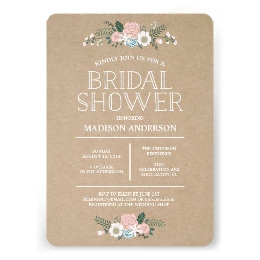 FAVORITE!!! Sweet Floral | Bridal Shower Invitation
