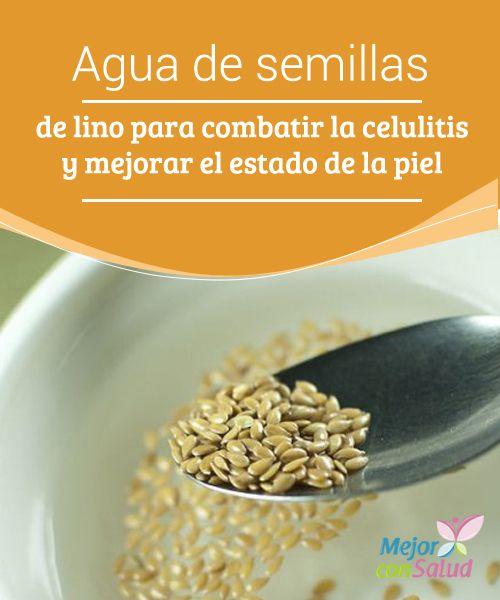 Agua de semillas de lino para combatir la celulitis y mejorar el estado de la piel  La celulitis es uno de los problemas estéticos que más afecta a las mujeres de todo el mundo, especialmente cuando se sufre de sobrepeso u obesidad.