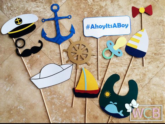 Nautical Themed Photo Booth Props | Photo Props | Sea, Maritime, Ocean, Beach