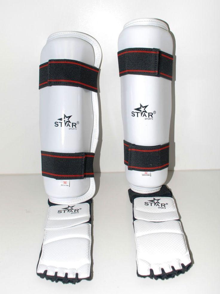TAEKWONDO gear Shin protector Shin Instep Guard martial arts sparring foot gear  #STARSPORTS
