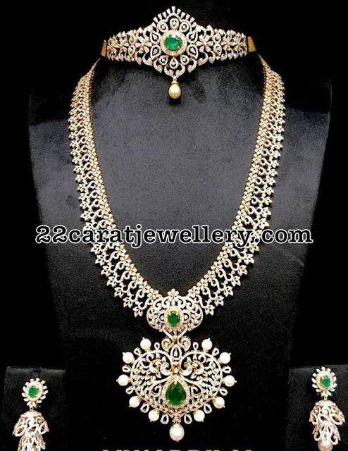 Diamond Set Long Chain by Musaddilal