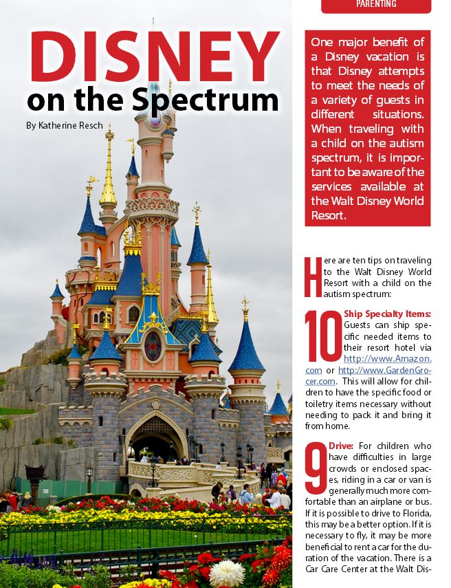 Be aware of the services available at Walt Disney World Resort when traveling with a child on the autism spectrum #autism