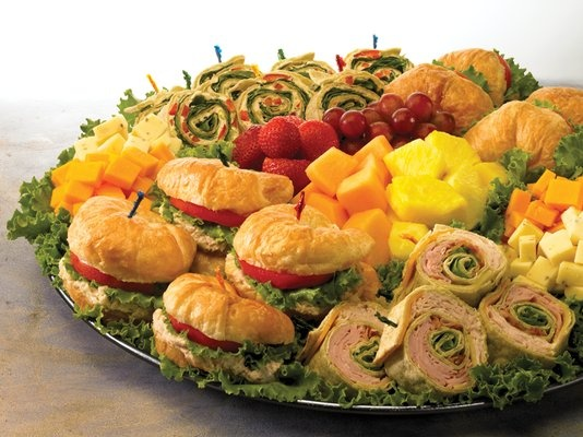 Food: Sandwich Tray (we can get pre-made platters from BJ's or Wegman's)