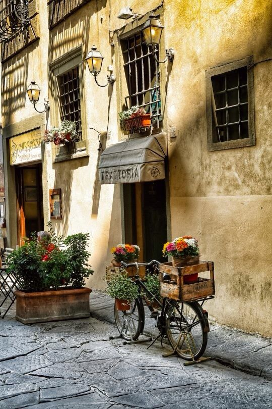 Sit outside the locals' trattoria........