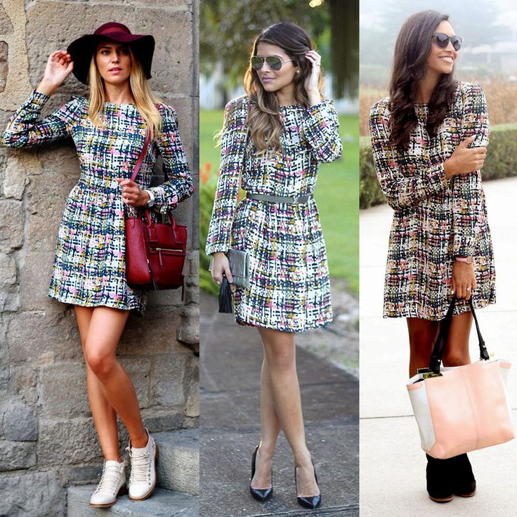 Image result for printed check dress