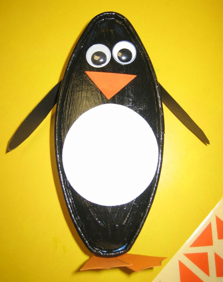 Pingouin en boite à fromage