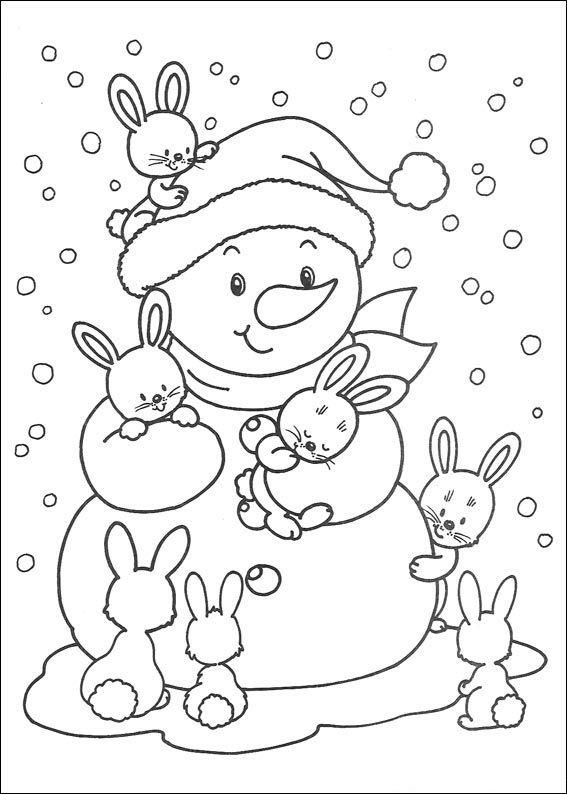 Weihnachten Ausmalbilder Kostenlos Malvorlage Hase