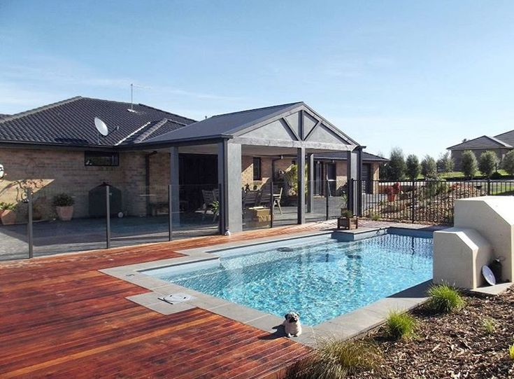 """Hard work has its rewards. The Leisure Pools """"Elegance"""" in Silver Grey composite fiberglass swimming pool. Let us know when you're ready to live your well-deserved """"life of leisure."""""""