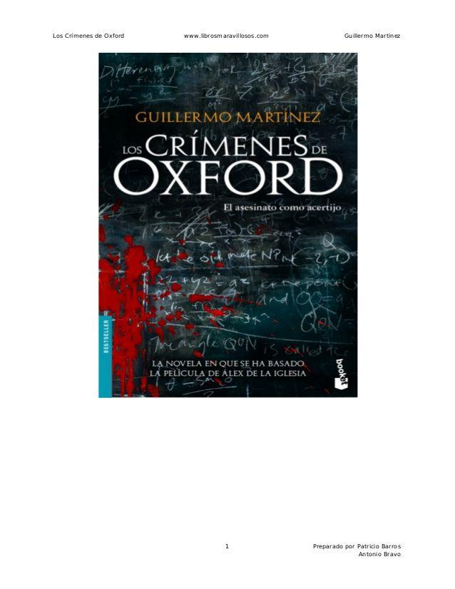 los crimenes de oxford libro - Buscar con Google