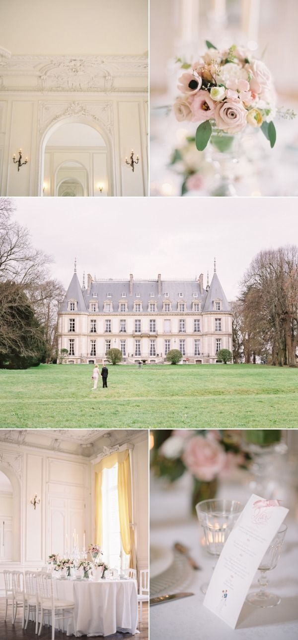 "This French Chateau Wedding is AMAZING! And I realized that planning an outside wedding in this country is pure madness, so amazing ""chateau"" it is!"