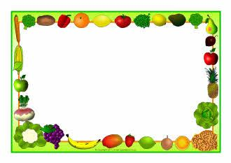 Fruit and vegetables-themed A4 page borders (SB5485) - SparkleBox
