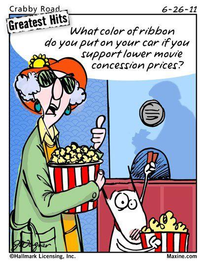 Maxine on movie ticket prices