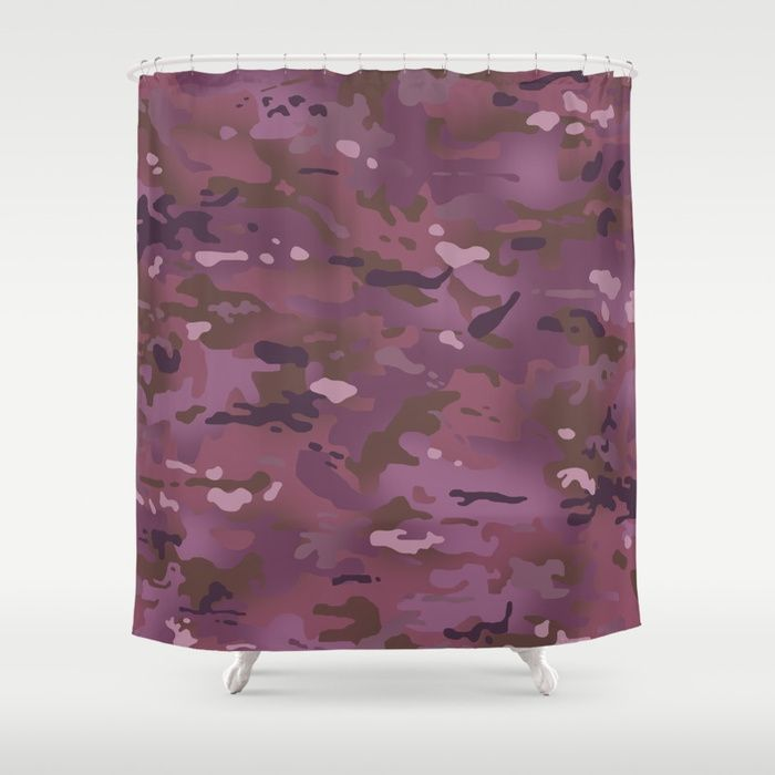Buy Camouflage Pink Purple Shower Curtain By Jsdavies