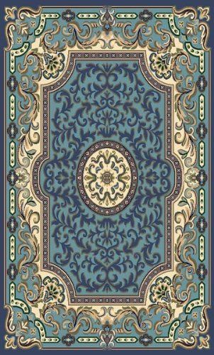 Traditional Area Rug Concord Collection 5 X8 Blue