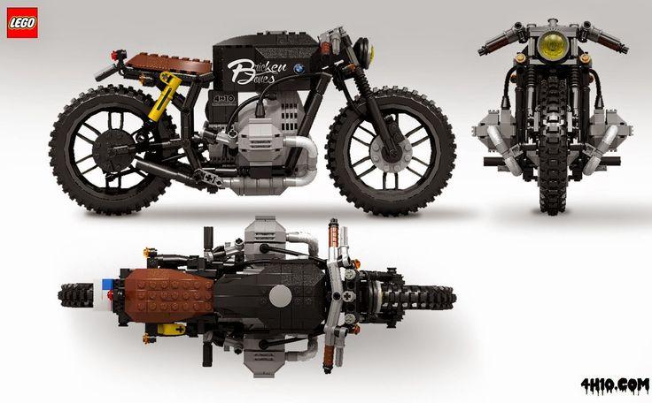 BMW brat bike.... made of lego!