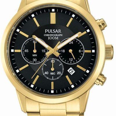"""Montre Sport Pulsar PT3748X1. Coloris : Doré. Prix : 139.0 €. <p><strong><a href=""""/bc/montres-pulsar-homme.html"""" target=""""_blank"""">Montre Pulsar homme</a> - Sport PT3748X1</strong></p> <p>Qui a dit qu'un chronographe..."""