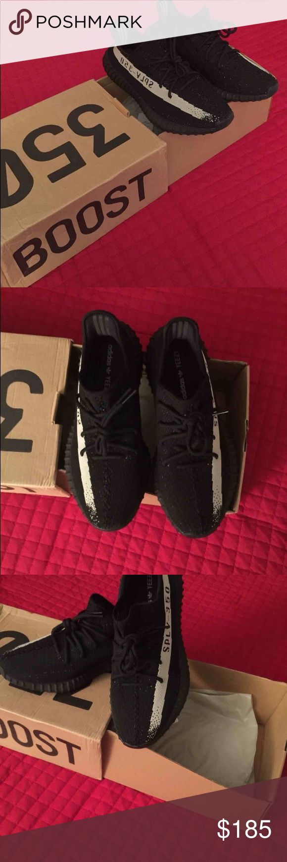 Adidas Yeezy Oreos *Read Description* These are 1:1 UA's. Literally stitch for stitch, and they're a fraction of the price. Comes with the original box. If you want yeezys but not yeezy money these are for you. In the Listing you get the zebras with the actual black light. Size 9.5/10. COMMENT IF YOU WANT ANOTHER SIZE. Yeezy Shoes Sneakers