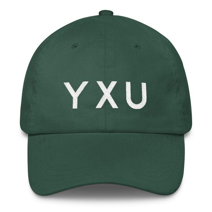 YXU London Airport Code Classic Varsity Dad Cap