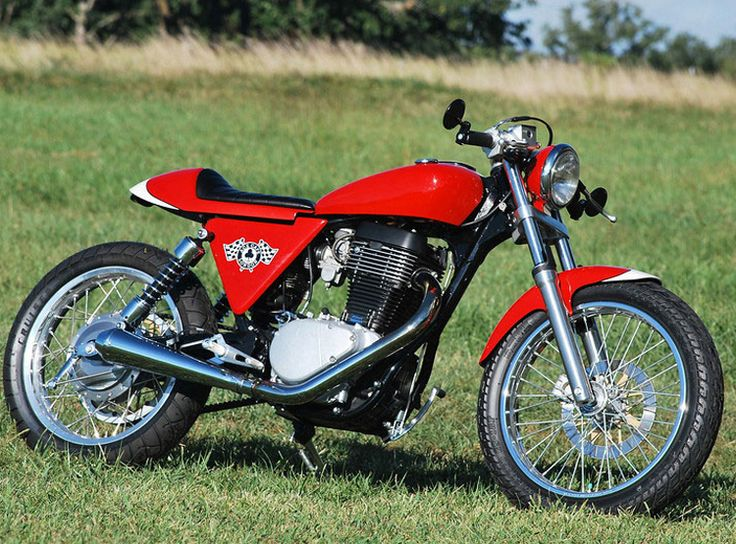 1x1.trans Custom Cafe Racer Motorcycle Kits for Transforming an Old Suzuki S40 by Ryca Motors   Photos and Video