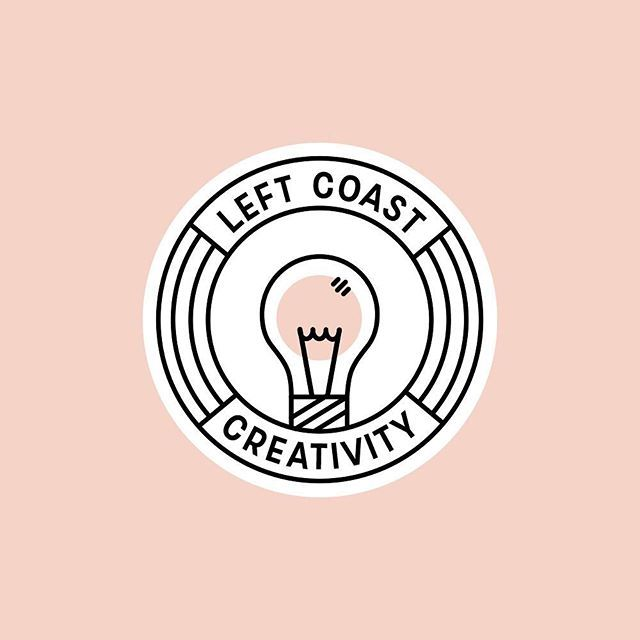 A little logo concept for @leftcoastcreativity that I loooove. In the end we went in a different direction that you'll see soon, but I couldn't leave this one (or its partner - you might see that one soon) to sit on a hard drive forever! If you wanna chat branding / design, hit up the link in my bio ☺