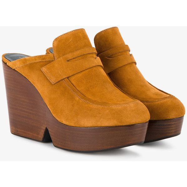 Damor Suede Wedge Mules Robert Clergerie