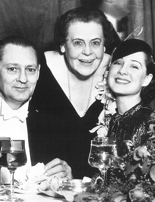 Lionel Barrymore, Marie Dressler & Norma Shearer