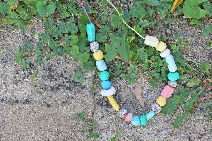 Make degradable beads for a necklace.