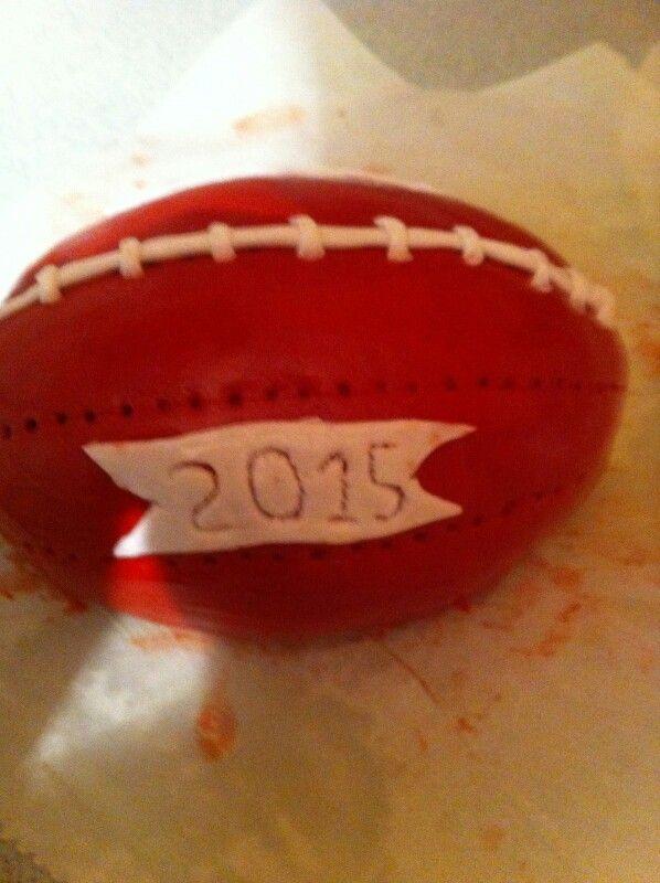 Tarta Balon rugby comunio Nel