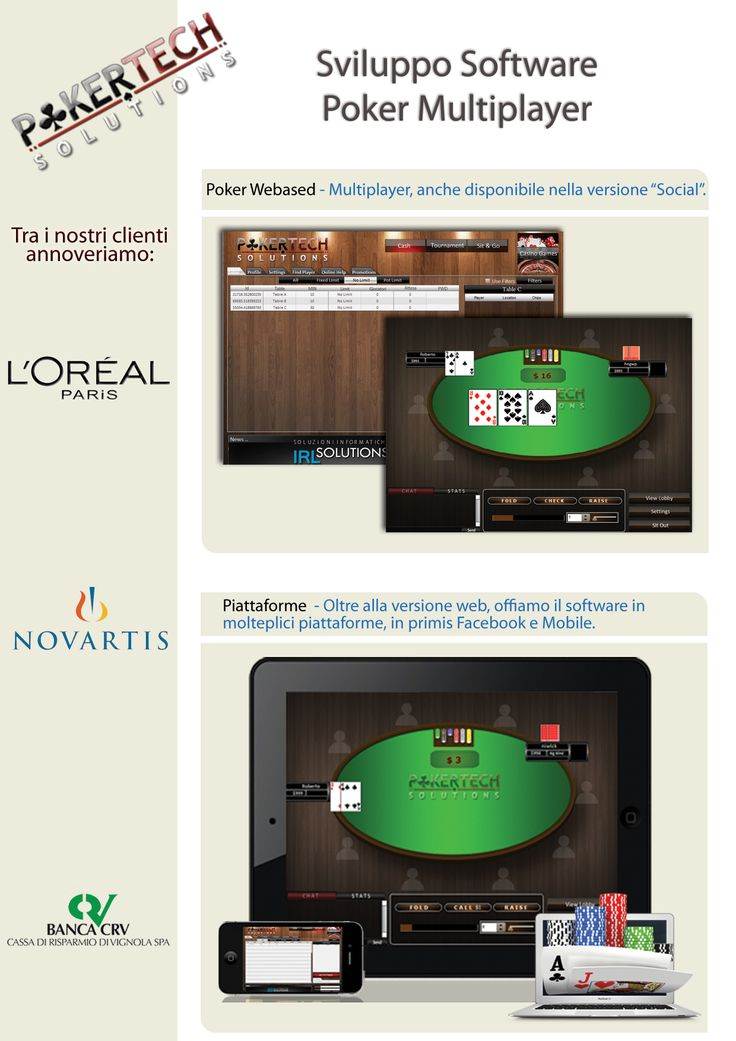 Internet Poker Software | Poker Game Software | Online Poker Software    PokerTech Solutions offers you great poker tournaments. The best online poker software, internet poker software or poker game software. Play online and start enjoying the game.    POKER WEB BASED  Innovativa Infotech Poker offers you great poker tournaments. Play online on your iPhone, iPad, or your Android and start enjoying the game.    Visit: http://pokertechsolutions.com/poker_overview.php