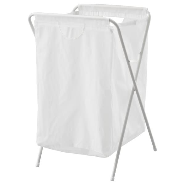 Jall Laundry Bag With Stand White Ikea In 2020 Ikea Laundry