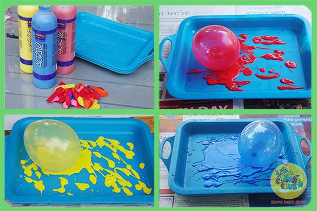 After thinking about the activities for the week ahead and knowing that our theme for this week is the circus, I decided to include a fun clown balloon painting activity for the toddlers.