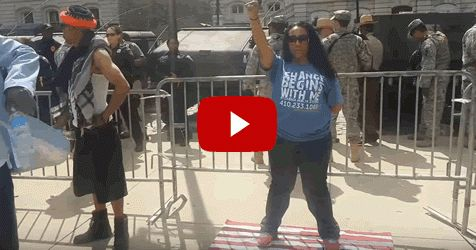 WATCH: Liberal Scumbag Steps on American Flag, Look How Patriot Troops Respond (VIDEO) Watch Video Below And Take Poll From Video on Conservative Post: Entitled liberal haters claim they mean no di…