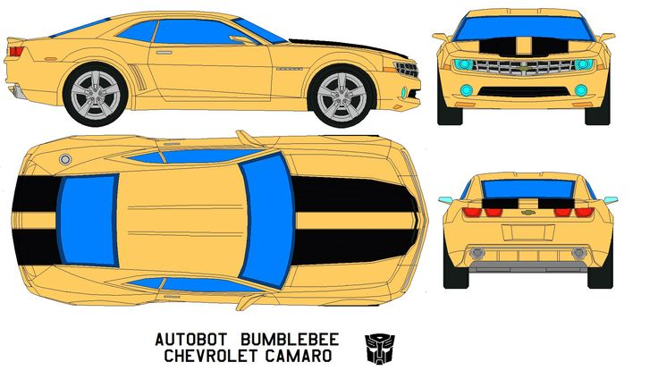 pinewood derby corvette template - bumble bee camaro ss rear veiw google search images