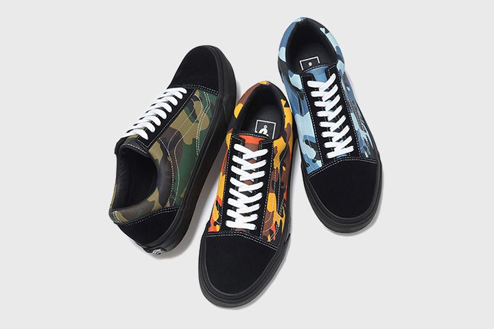 Supreme and Vans look into the past to create these brilliantly '90s themed camo Old Skools and Sk8-Mids.  http://www.thedailystreet.co.uk/2015/03/supreme-x-vans-camo-old-skool-sk8-mid/
